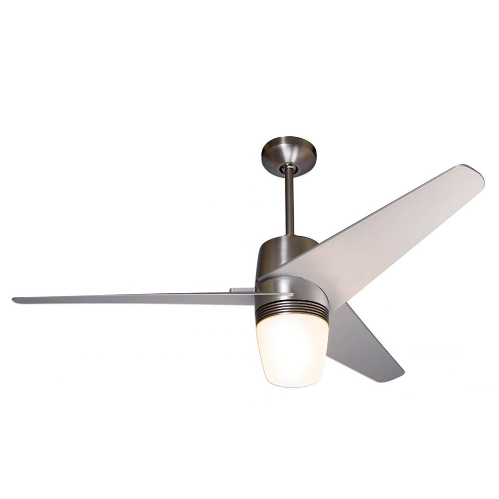 "Inspiration about Velo Ceiling Fan Bright Nickel With Light 50"" – Eid Fans 