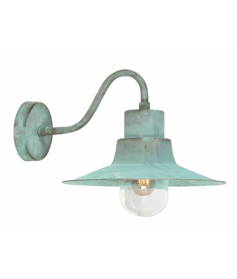 Inspiration about Verdigris Industrial Style Fisherman Wall Light | Ideas For Old With Regard To Green Outdoor Wall Lights (#2 of 15)