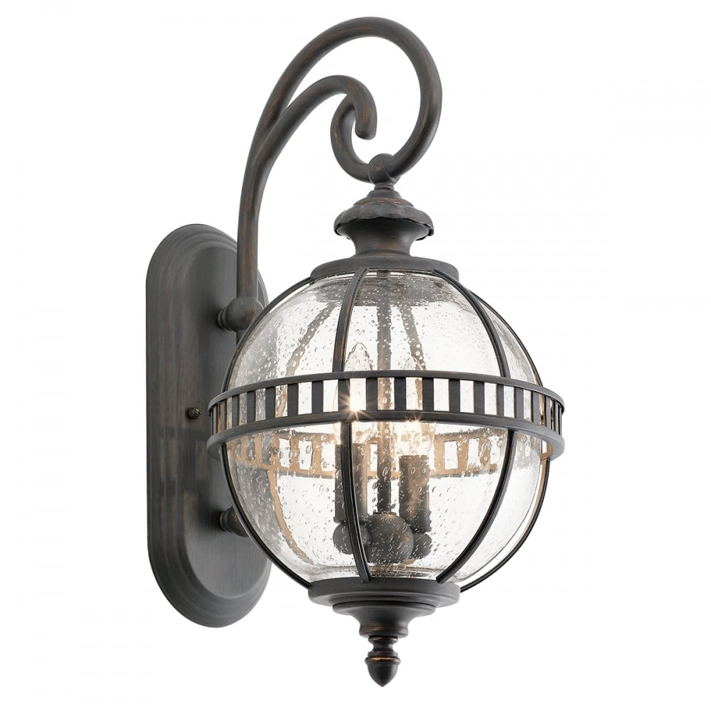 Victorian Small Globe Style Exterior Lantern In Londonderry Finish Pertaining To Outside Wall Globe Lights (#14 of 15)