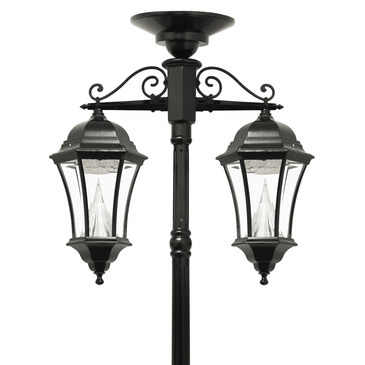 Victorian Solar Lamp Series – Double Downward Hanging Lamp Post Gs Regarding Outdoor Hanging Lights At Ebay (View 14 of 15)