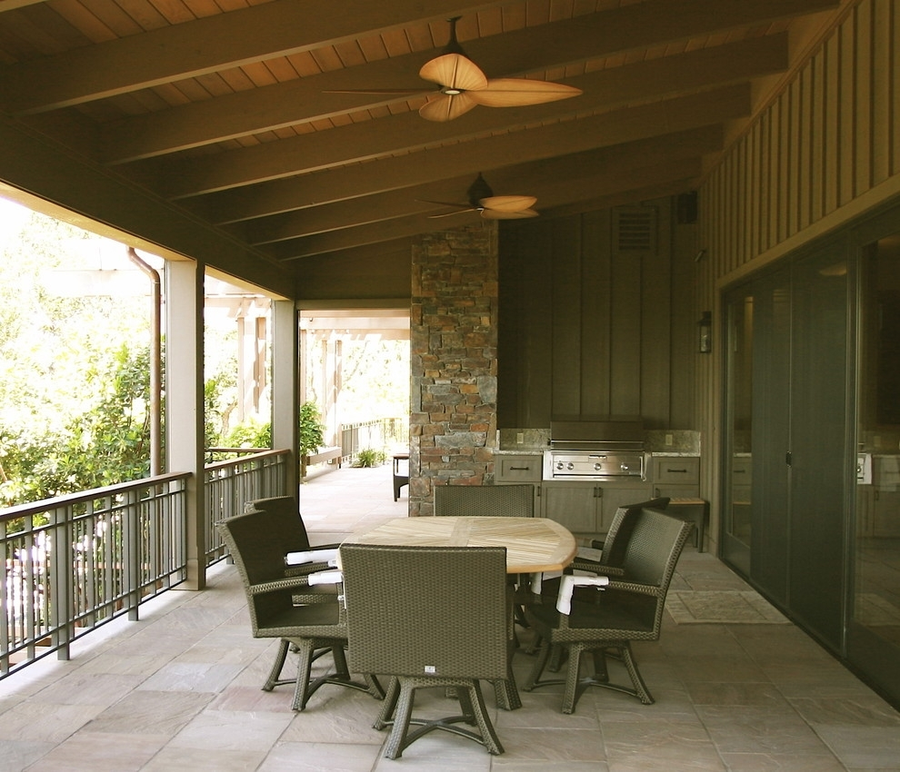 Inspiration about Viking Outdoor Grill Porch Rustic With Rock Wall Wall Lighting For Outdoor Rock Wall Lighting (#15 of 15)