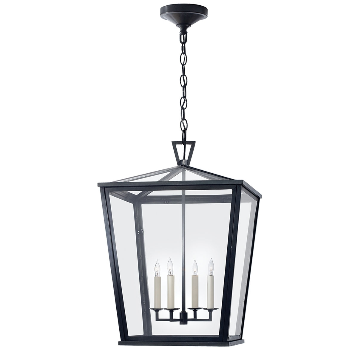 Visual Comfort Darlana Large Outdoor Hanging Lantern, Outdoor Throughout Outdoor Hanging Light In Black (#15 of 15)