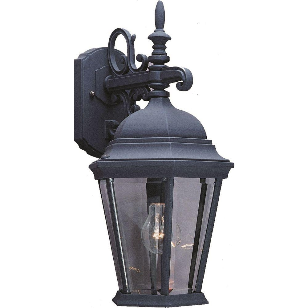 Inspiration about Volume Lighting 1 Light Black Outdoor Wall Sconce V8230 5 – The Home Regarding European Outdoor Wall Lighting (#11 of 15)