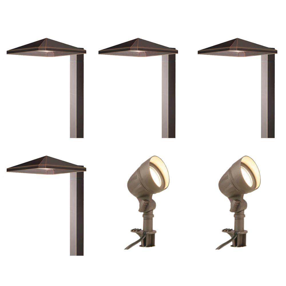 Walkway & Path Lights – Landscape Lighting – The Home Depot With Contemporary Solar Driveway Lights At Home Depot (#15 of 15)