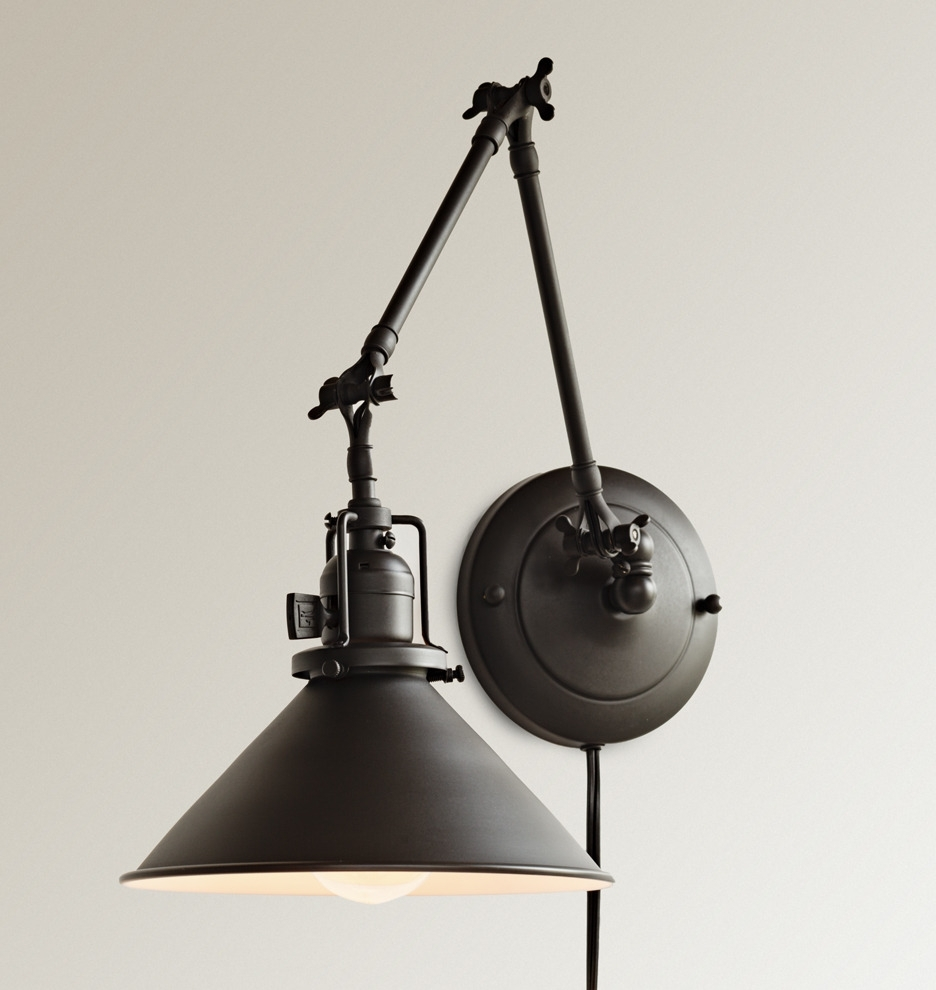 Wall Sconce Ideas : Excellent Newest Wall Sconce Lighting Plug In Intended For Pottery Barn Outdoor Wall Lighting (#15 of 15)