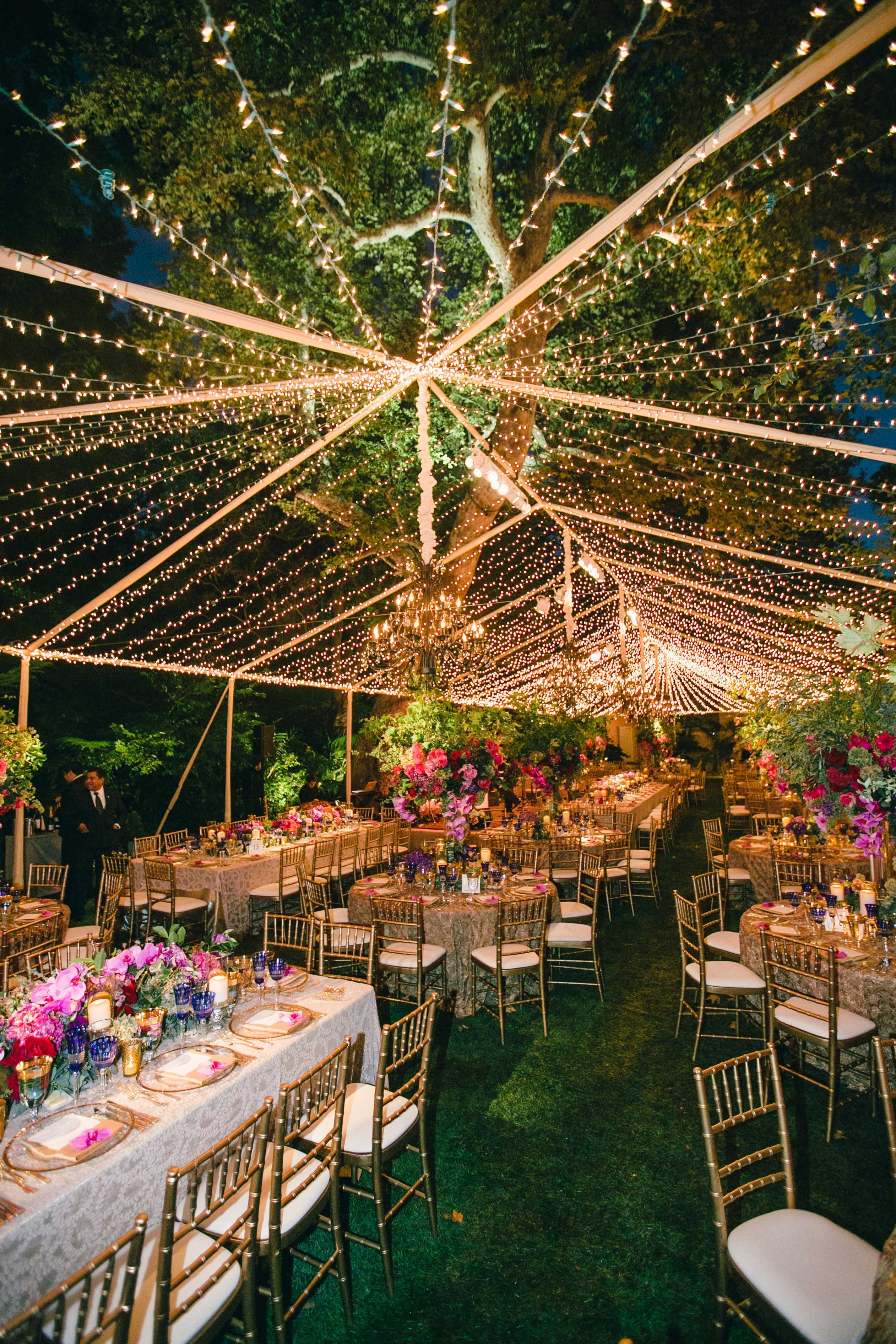 Wedding Reception Ideas: Transforming Décor With String Lights Pertaining To Hanging Lights For Outdoor Wedding (#13 of 15)