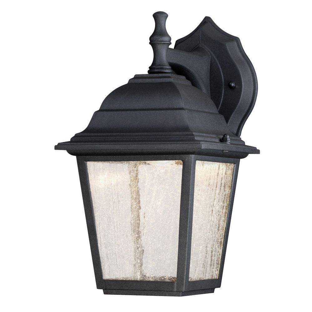 Westinghouse 1 Light Black Outdoor Integrated Led Wall Mount Lantern With Regard To Outdoor Porch Light Fixtures At Home Depot (#15 of 15)