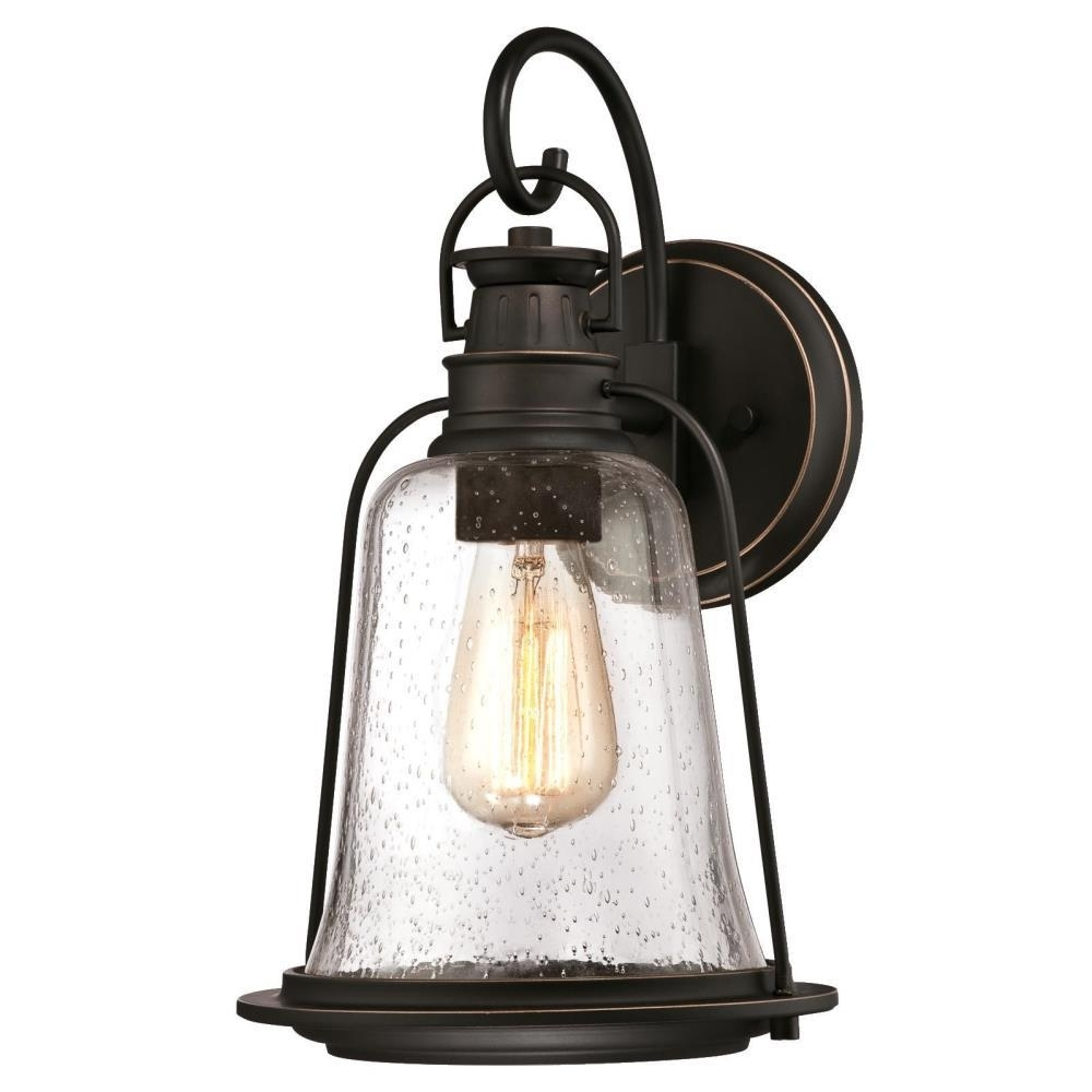 Westinghouse Brynn 1 Light Oil Rubbed Bronze With Highlights Outdoor Within Outdoor Hanging Wall Lanterns (View 12 of 15)