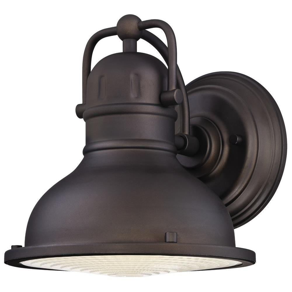 Westinghouse Orson Oil Rubbed Bronze Led Outdoor Wall Lantern Inside Farmhouse Outdoor Wall Lighting (#15 of 15)