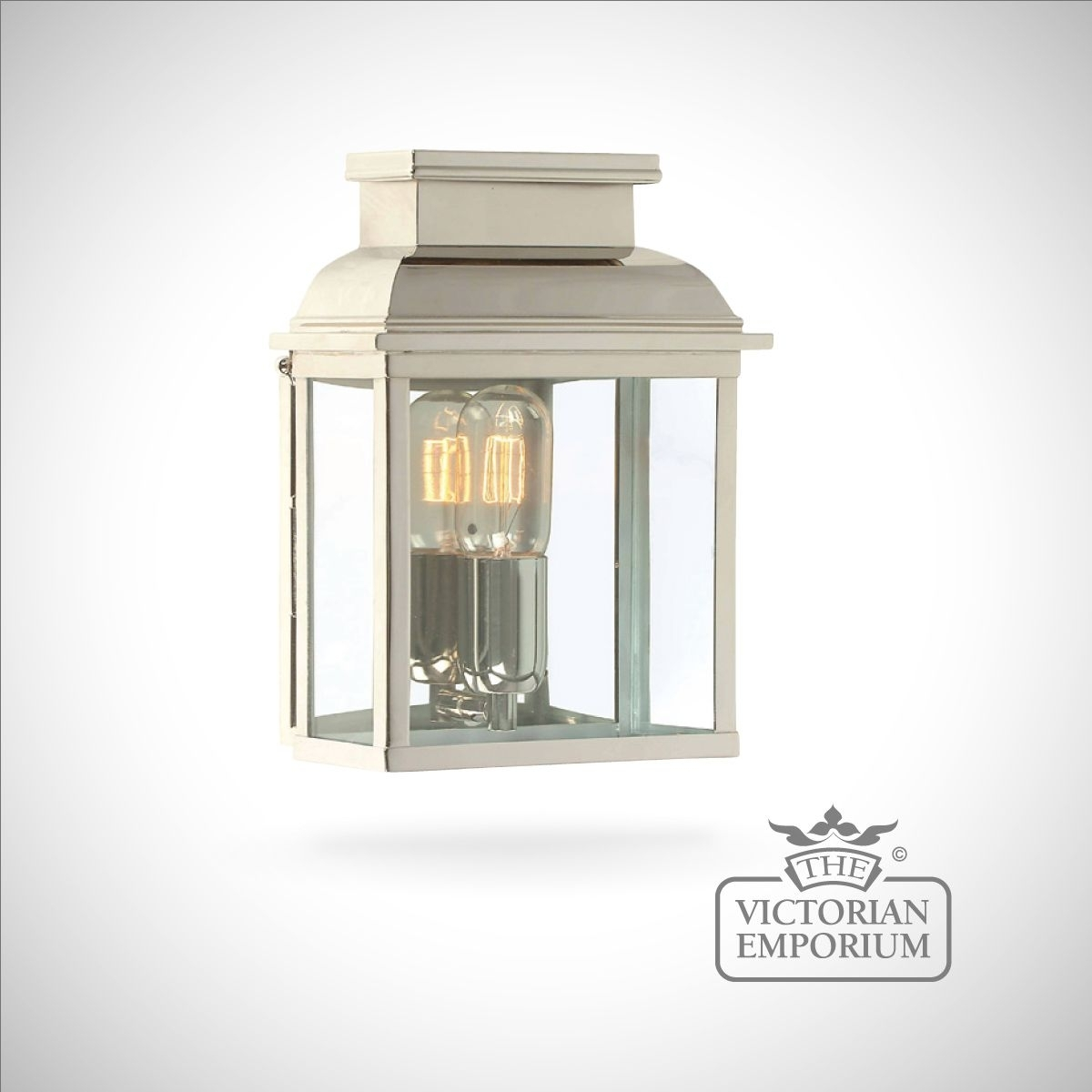 Westminster Brass Wall Lantern – Polished Nickel   Outdoor Wall Lights Intended For Nickel Outdoor Wall Lighting (#15 of 15)