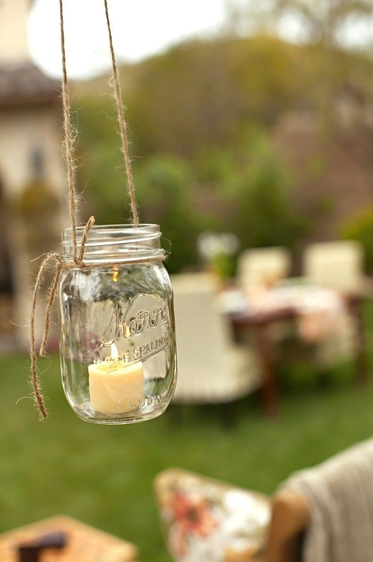 Where To Buy Diy Rustic Hanging Mason Jar Candles Ideas For Wedding For Outdoor Hanging Tea Lights (View 1 of 12)