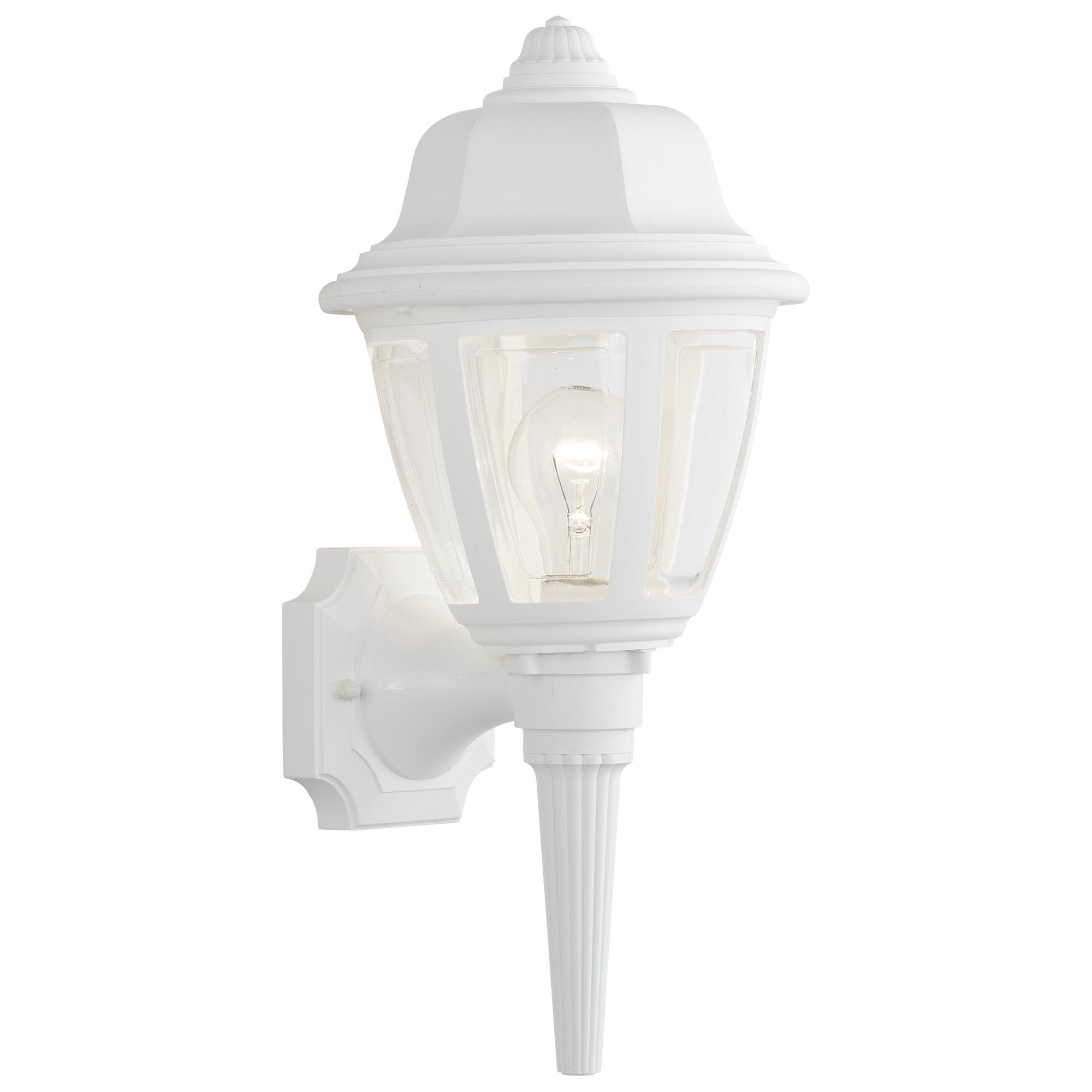 White Plastic Outdoor Light Fixtures – Outdoor Designs Throughout Plastic Outdoor Ceiling Lights (#14 of 15)