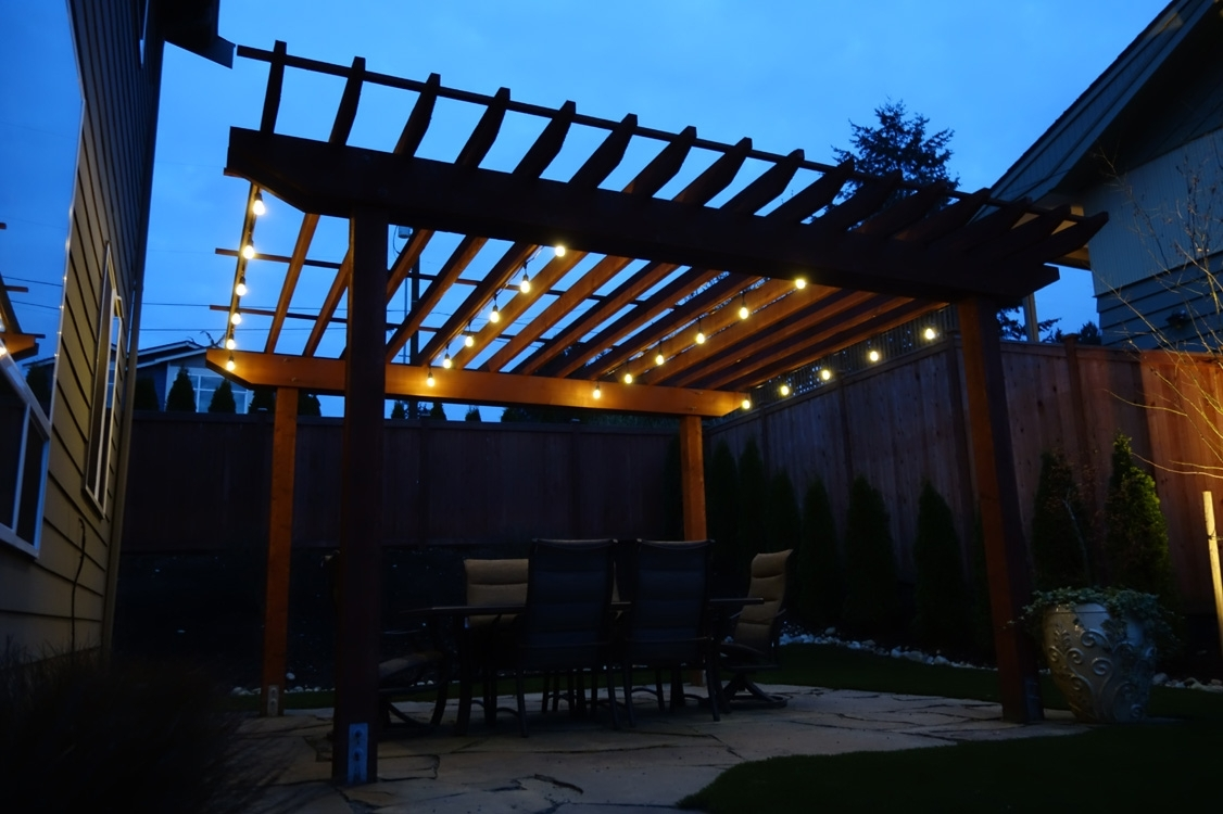 Why Should I Have Cafe Lights Professionally Installed When I Can In Hanging Outdoor Cafe Lights (#15 of 15)