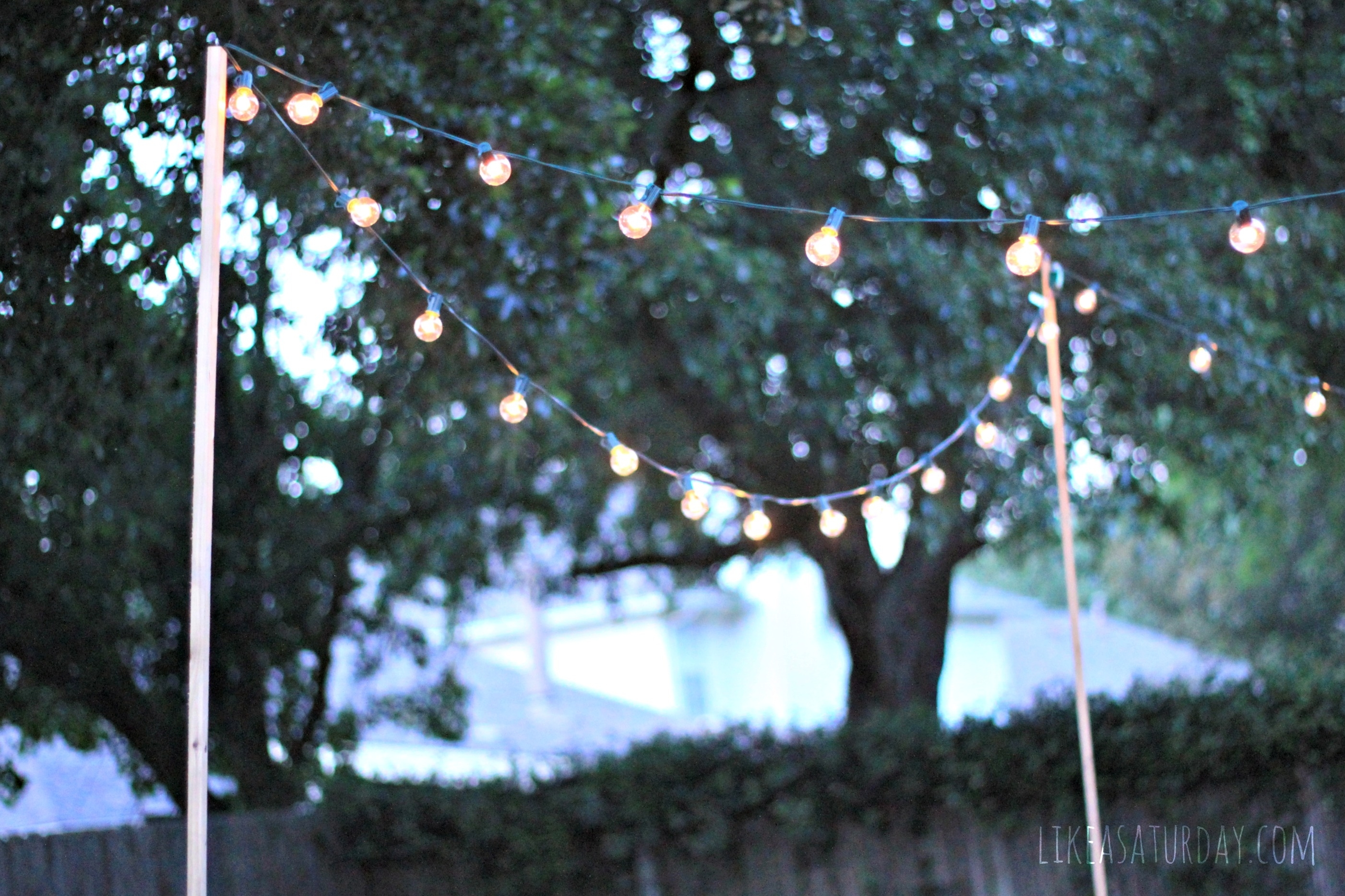 Winsome How To Hang Outdoor String Lights The Deck Diaries Part Inside Pole Hanging Outdoor Lights (View 11 of 15)