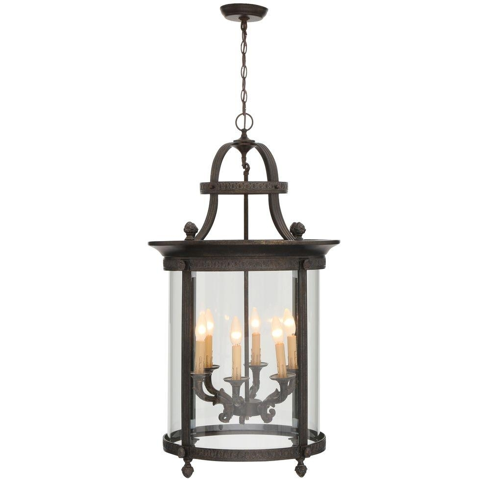 World Imports Chatham Collection 6 Light French Bronze Outdoor Pertaining To Outdoor Hanging Metal Lanterns (View 15 of 15)