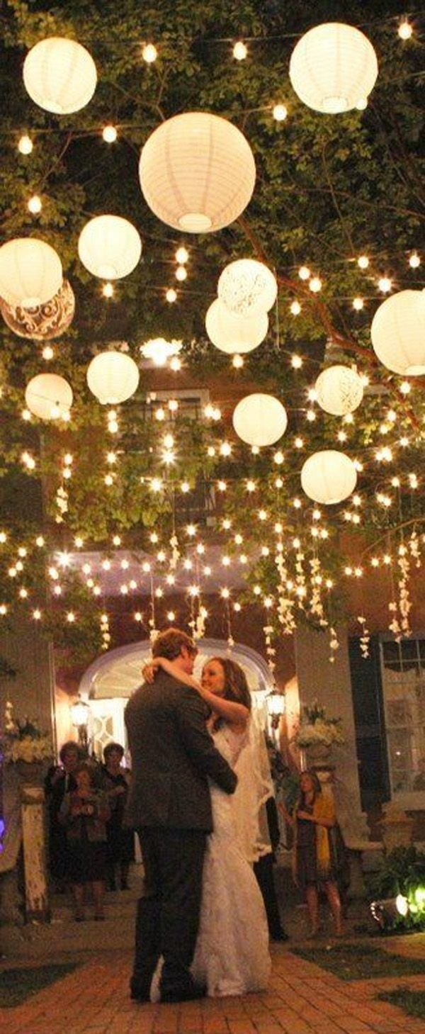 Wow Factor Wedding Ideas Without Breaking The Budget | Hanging Paper Regarding Outdoor Hanging Party Lanterns (View 5 of 15)
