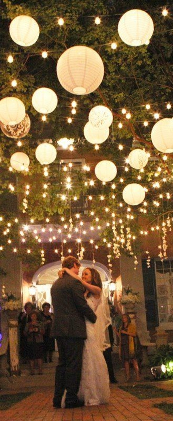 Wow Factor Wedding Ideas Without Breaking The Budget With Regard To Hanging Lights For Outdoor Wedding (#15 of 15)