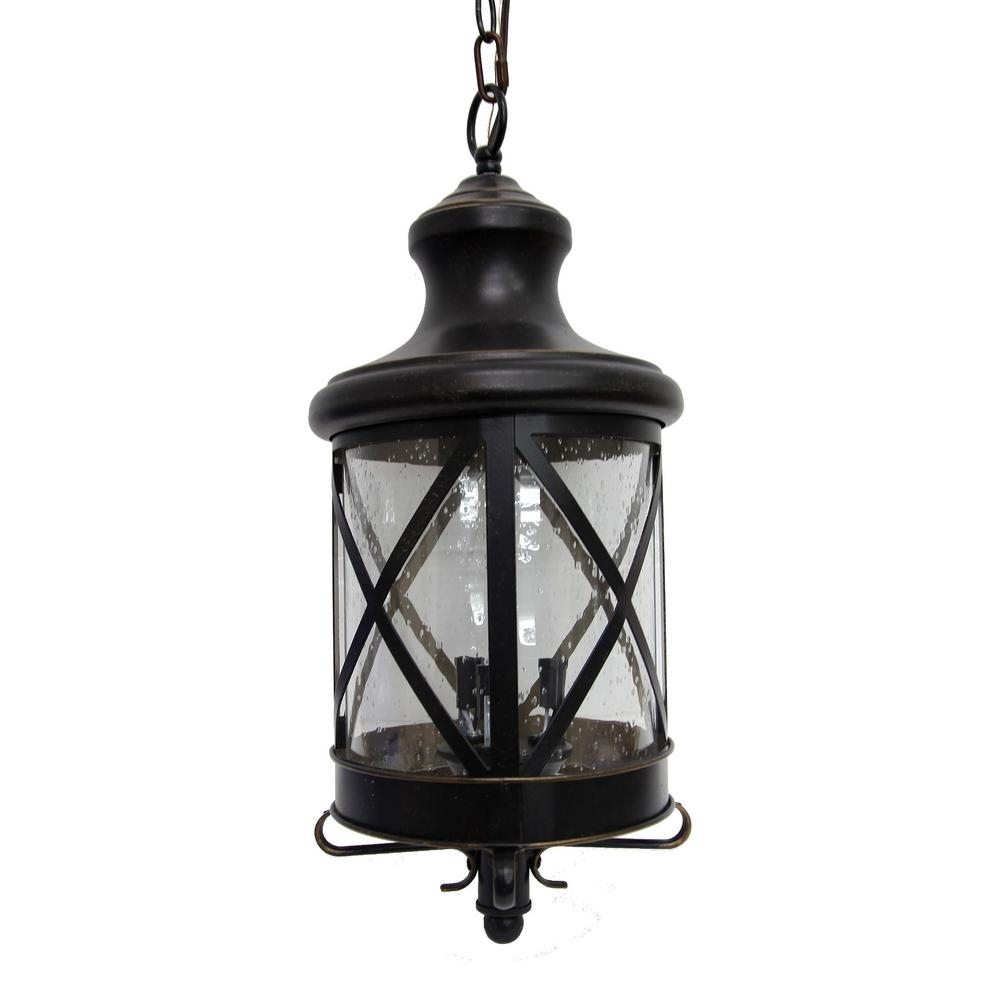 Y Decor Taysom 3 Light Oil Rubbed Bronze Outdoor Hanging Lantern Pertaining To Outdoor Hanging Lanterns For Candles (#15 of 15)