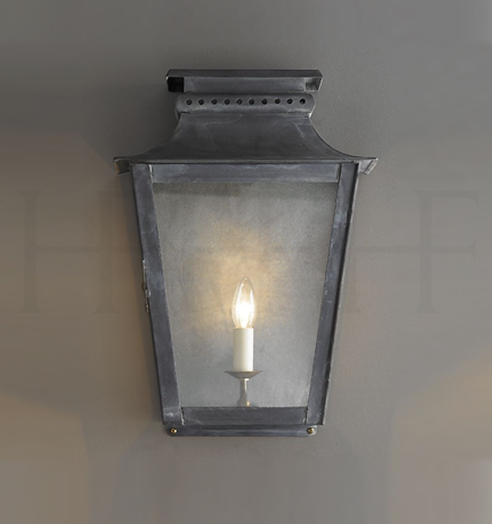 "Inspiration about Zeus Wall Lantern, Large. 18.7""h X 12.7""w. X 8.26""depth At Top Intended For Small Outdoor Wall Lights (#10 of 15)"