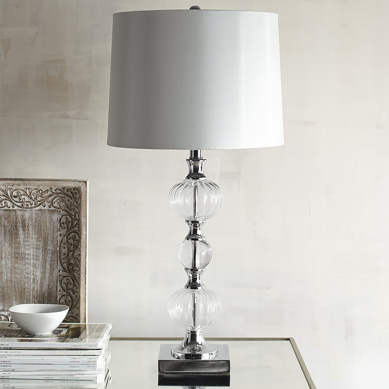 Inspiration about 55 Most Blue Chip Chrome Table Lamp Tall Lamps For Living Room White Throughout Clear Table Lamps For Living Room (#5 of 15)