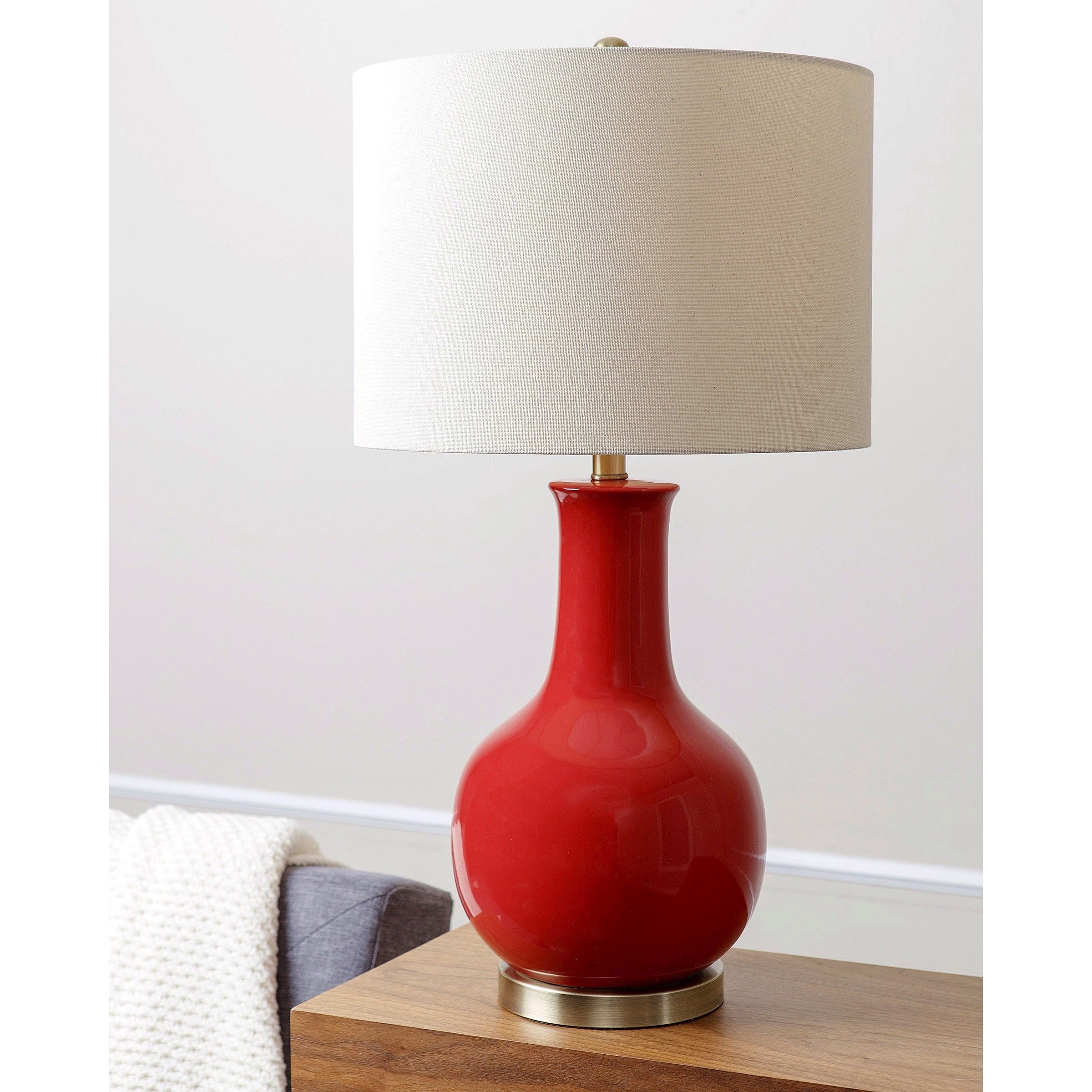 Abbyson Living Gourd Red Ceramic Table Lamp (Red) | Ceramic Table With Red Living Room Table Lamps (View 3 of 15)