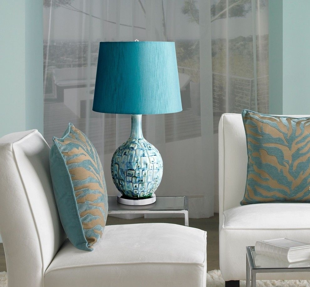 Amazing Contemporary Table Lamps For Living Room Design Picture Blue In Teal Living Room Table Lamps (#4 of 15)