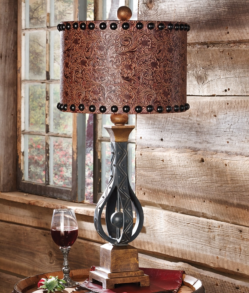 Amazing Design Western Table Lamps Living Room Rustic Wrought Iron With Western Table Lamps For Living Room (#1 of 15)