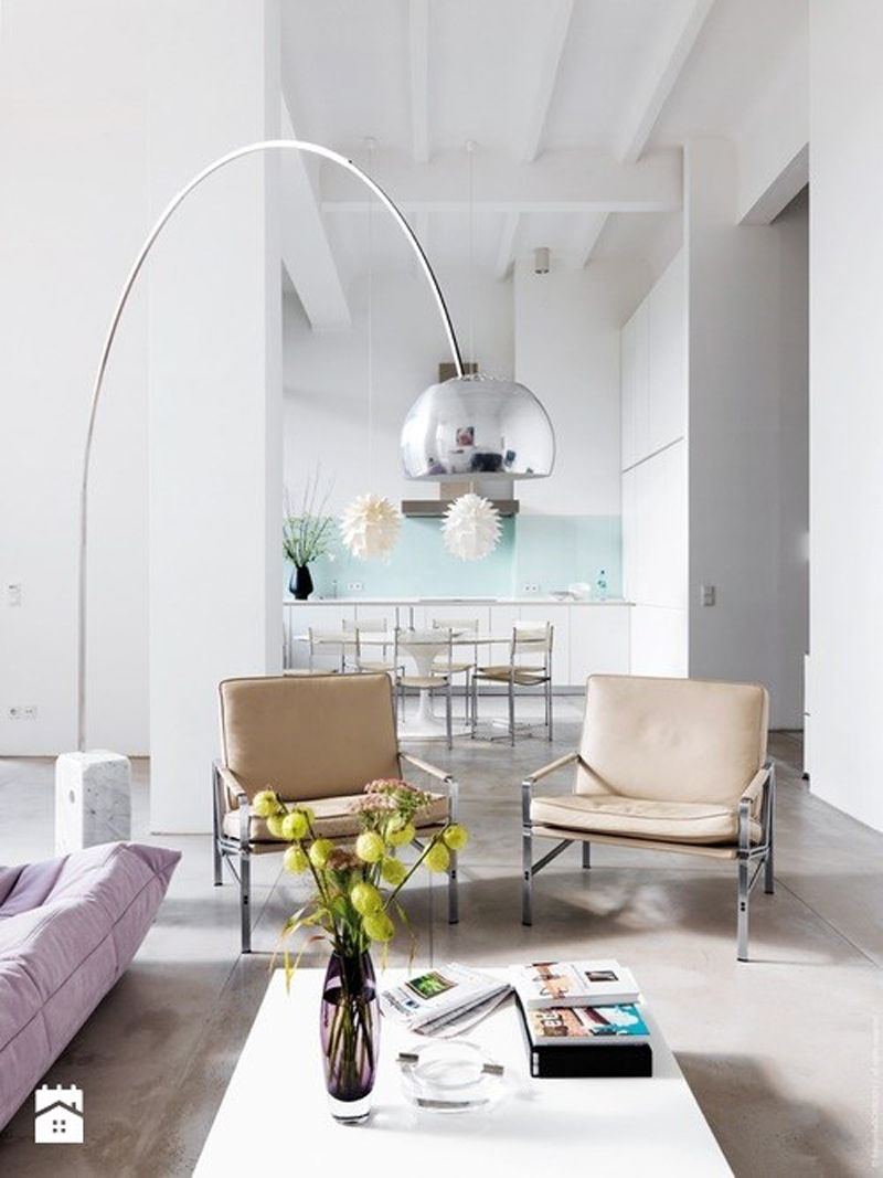 Arco Floor Lamp Gives Your Living Room A Modern Look | Arco Floor With Regard To White Living Room Table Lamps (View 4 of 15)