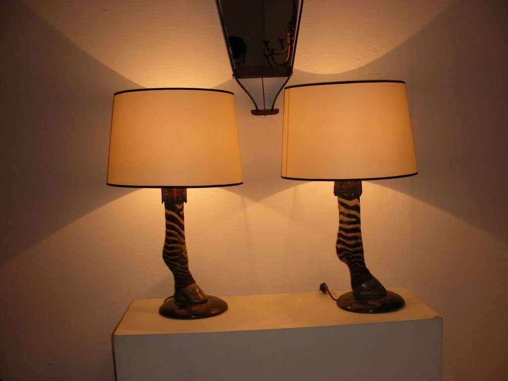 Astonishing Zebra Pair Of Lamp At Bathroom Dining Room Table Lamps In Purple Living Room Table Lamps (#4 of 15)