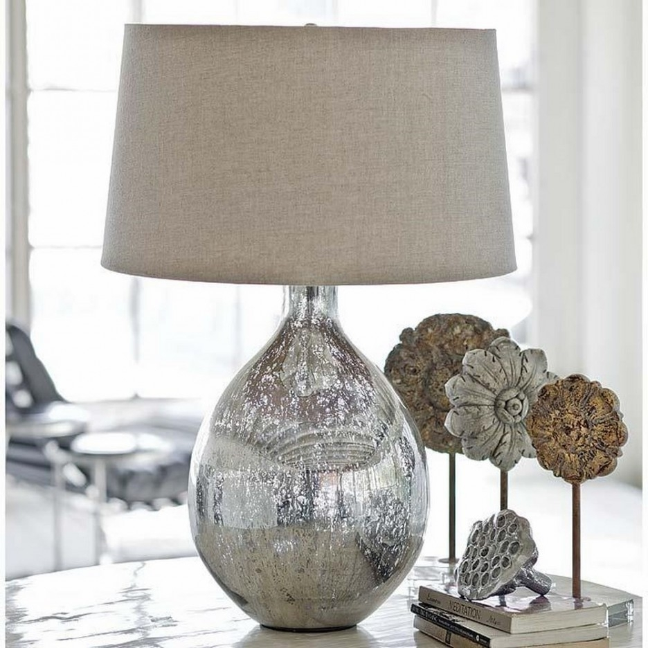 Awesome Silver Nightstand Lamps Cool Bedroom Furniture Ideas With Intended For Living Room End Table Lamps (#3 of 15)