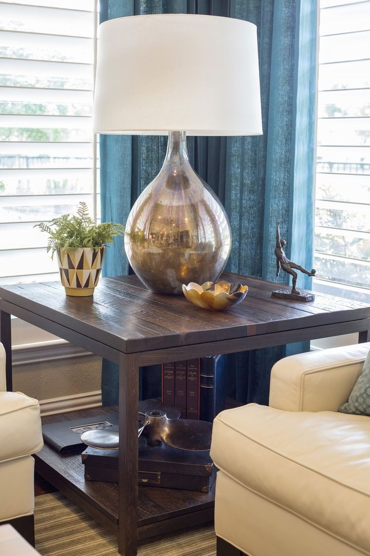 Before & After: This Living Room & Kitchen Remodel Shows How Pertaining To Transitional Living Room Table Lamps (#2 of 15)