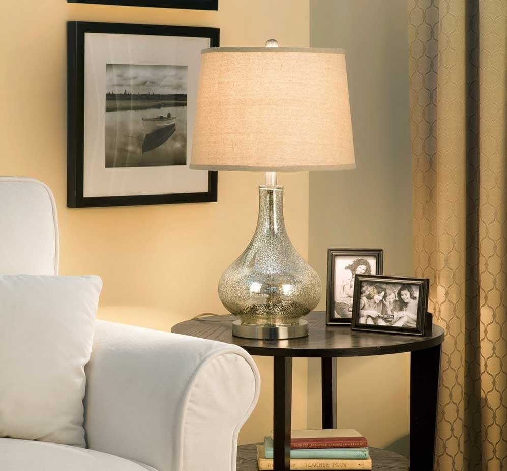 Popular Photo of Glass Living Room Table Lamps