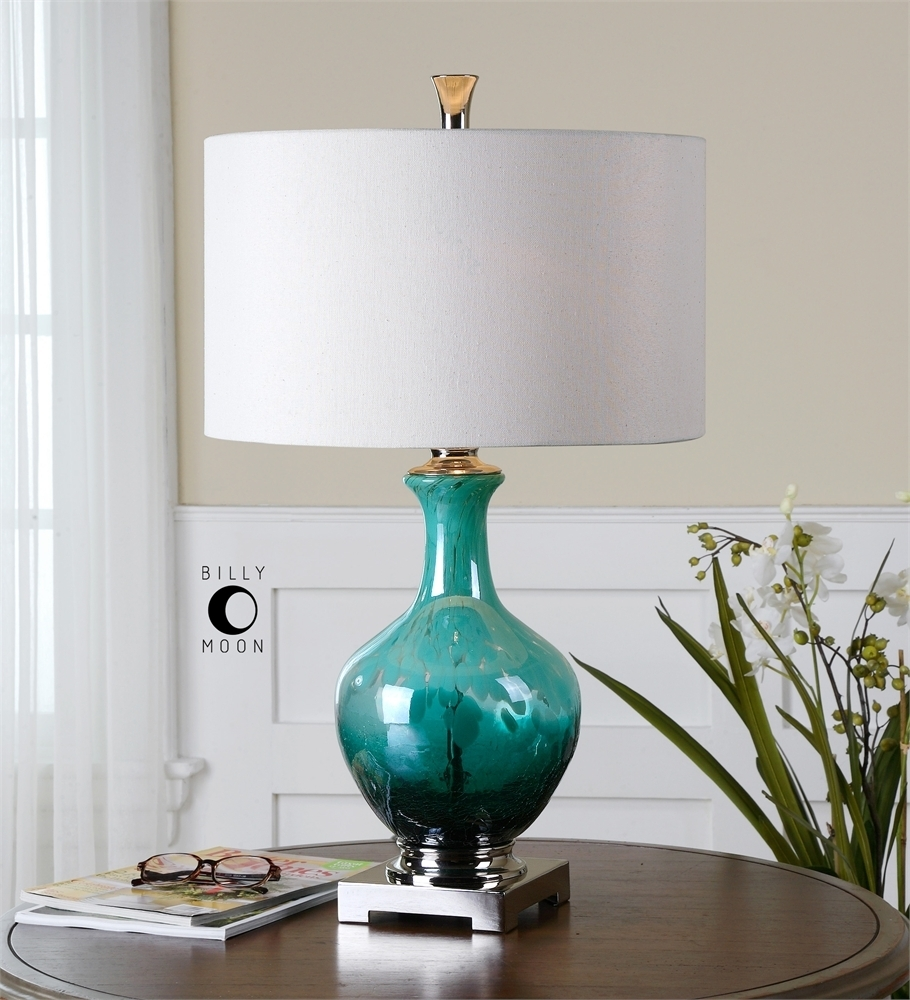 Colored Glass Table Lamps For Living Room — Table Design : Dazzling In Table Lamps For Living Room (#4 of 15)