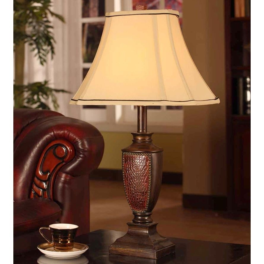 Crafted With A Brushed Red Finish, This Extravagant Table Lamp Is With Set Of 2 Living Room Table Lamps (View 4 of 15)