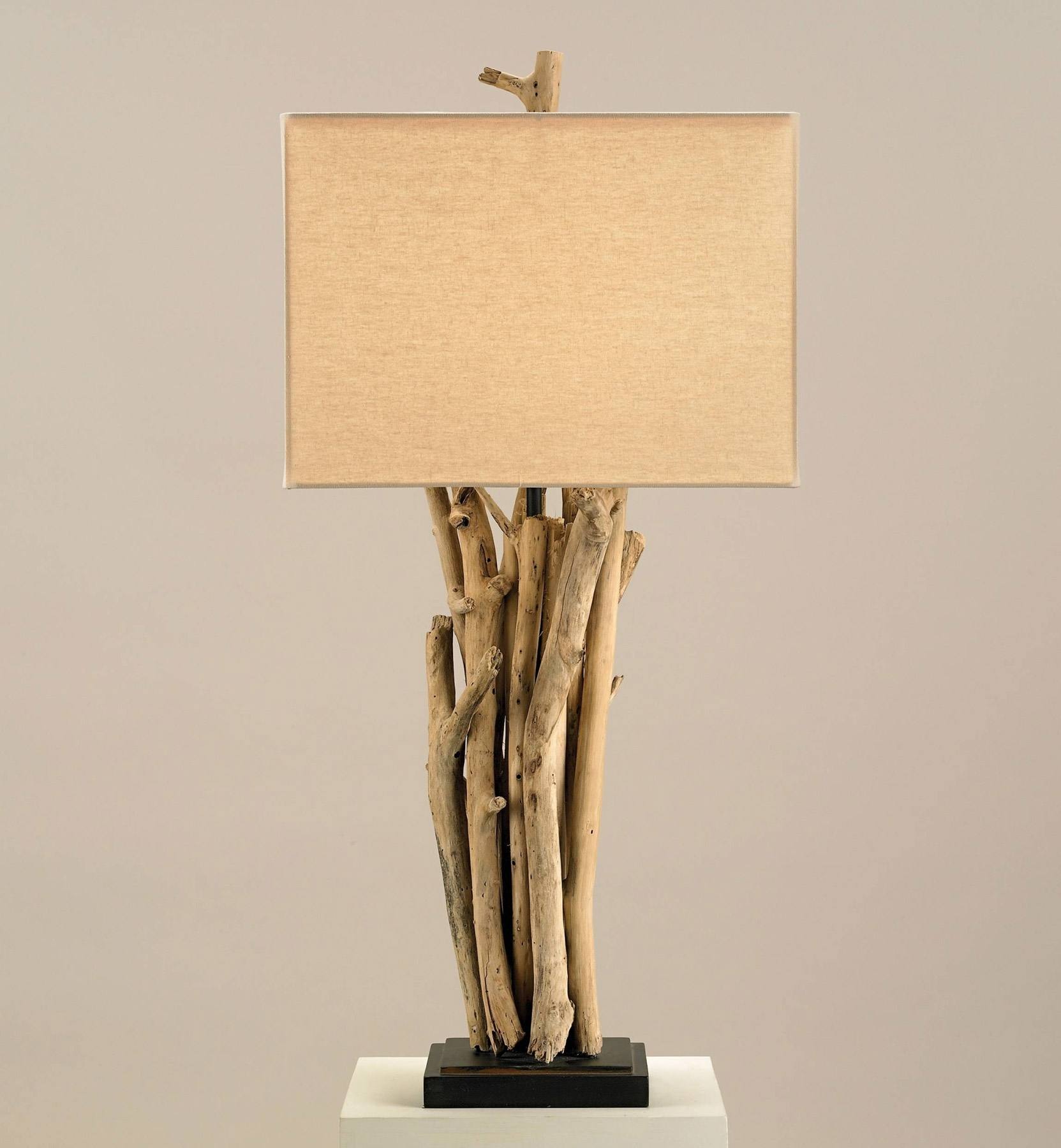 Currey And Company 6344 Driftwood Table Lamp Intended For Wood Table Lamps For Living Room (#2 of 15)