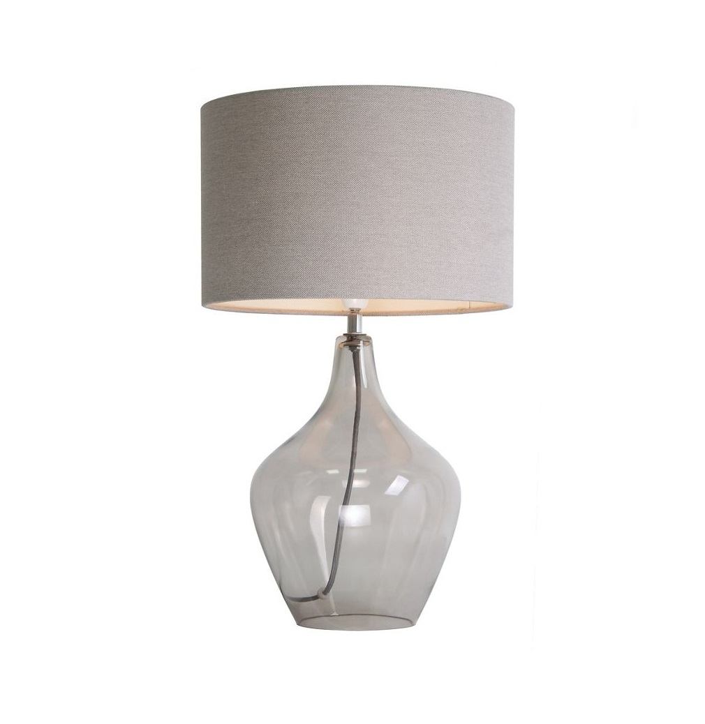 Inspiration about Debenhams Home Collection 'highgate' Table Lamp Smoked Glass | Ebay In Debenhams Table Lamps For Living Room (#1 of 15)
