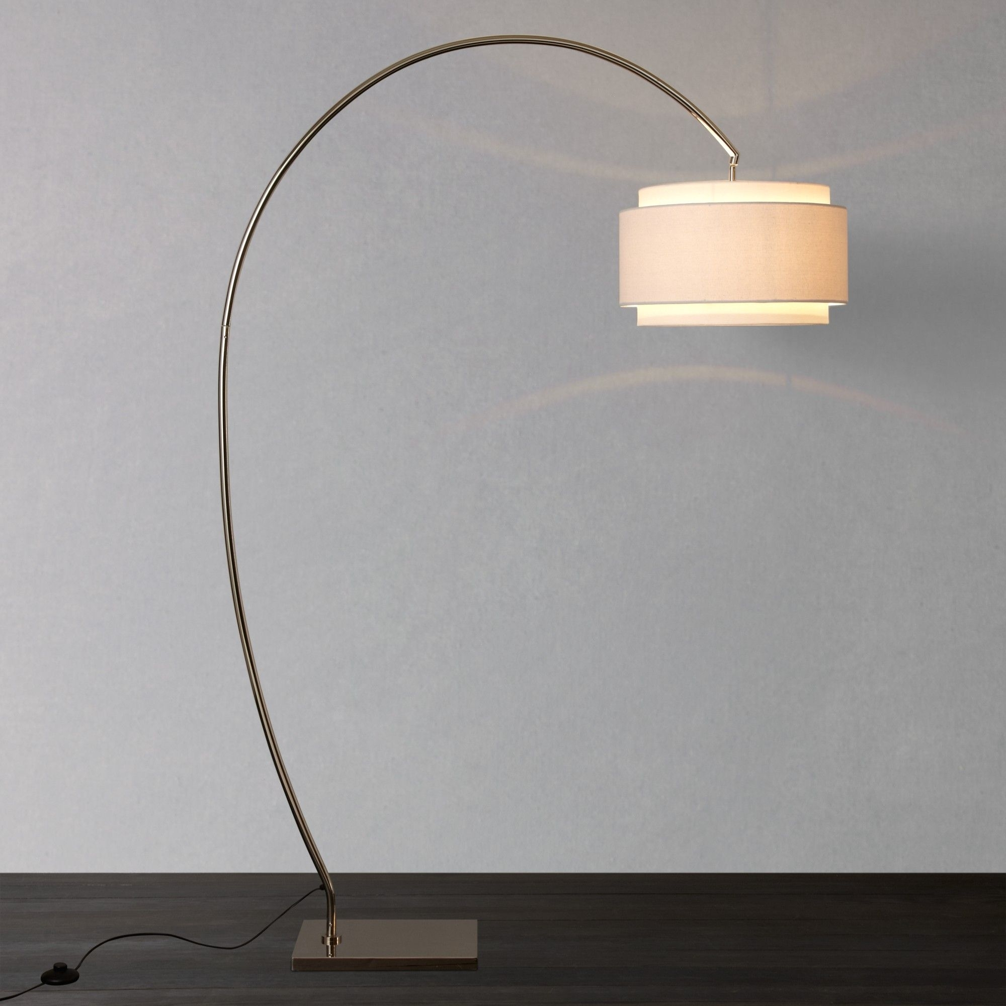 Evie Curve Floor Lamp | John Lewis, Floor Lamp And Curves With Regard To John Lewis Living Room Table Lamps (#2 of 15)