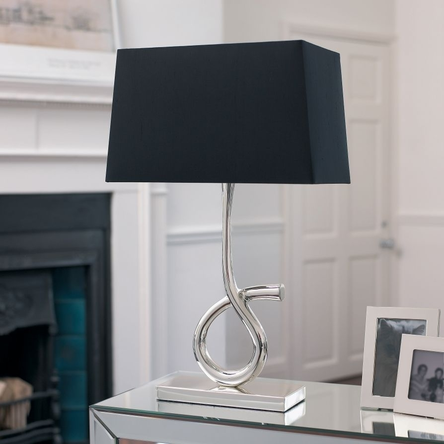 Fashionable Lamp Shades For Table Lamps Silver Table Lamps Living In Table Lamps For Modern Living Room (#4 of 15)