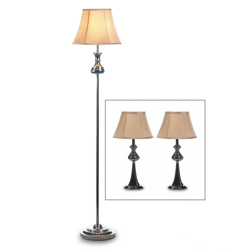 Floor Lamp With Stand, Metal Table Lamps Set For Living Room – 3 Within Living Room Table Lamps Sets (#5 of 15)