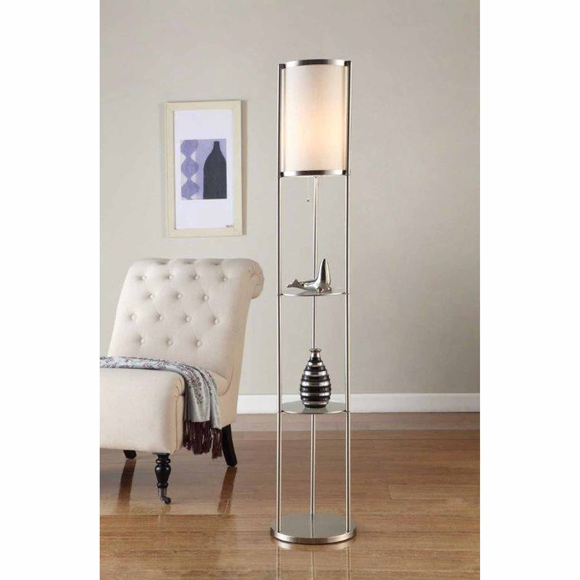 Furniture : Light Mainstays Floor Lamp Silver Walmart With Standing Pertaining To Walmart Living Room Table Lamps (#3 of 15)