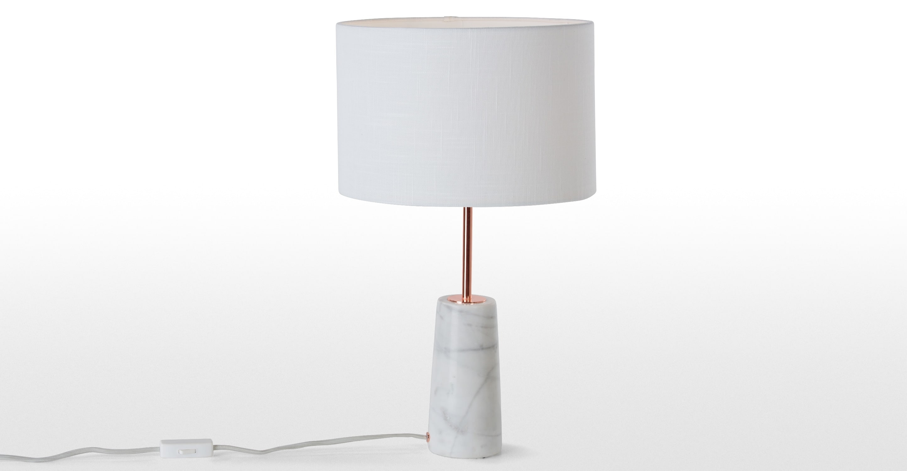 Genuine Target Table Lamps Ely Brass Stripe White Marble Cone Lamp Regarding Living Room Table Lamps At Target (#6 of 15)