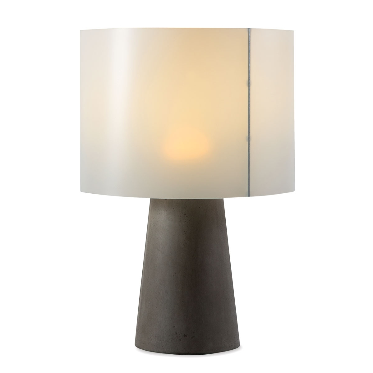Inspiration about Inda Outdoor Cordless Concrete Table Lamp Dark Gray For Cordless Living Room Table Lamps (#3 of 15)