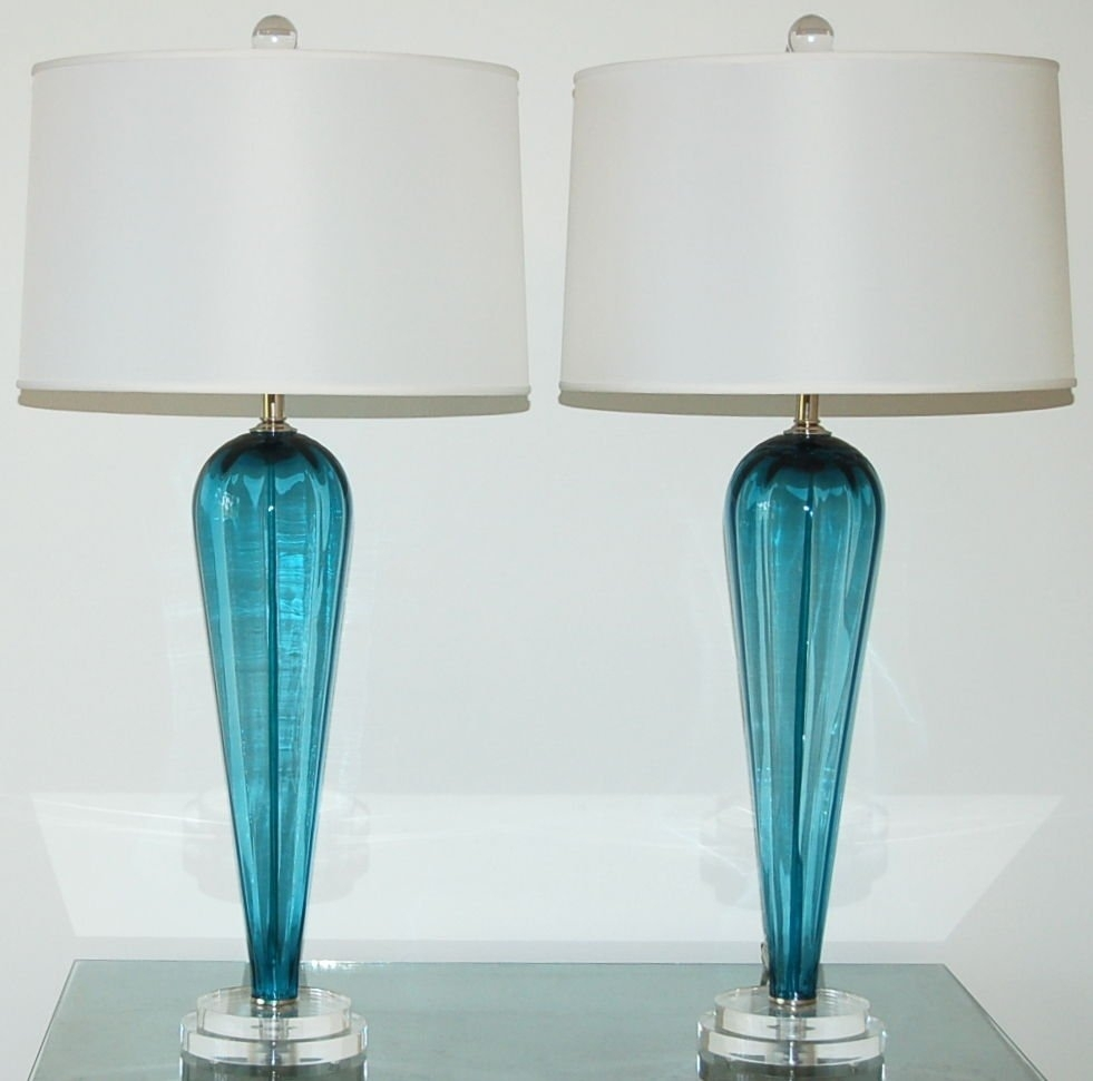 Lamp : Blue Table Lamps Lamp Shades Base Set Of For Living Room Intended For Teal Living Room Table Lamps (#9 of 15)