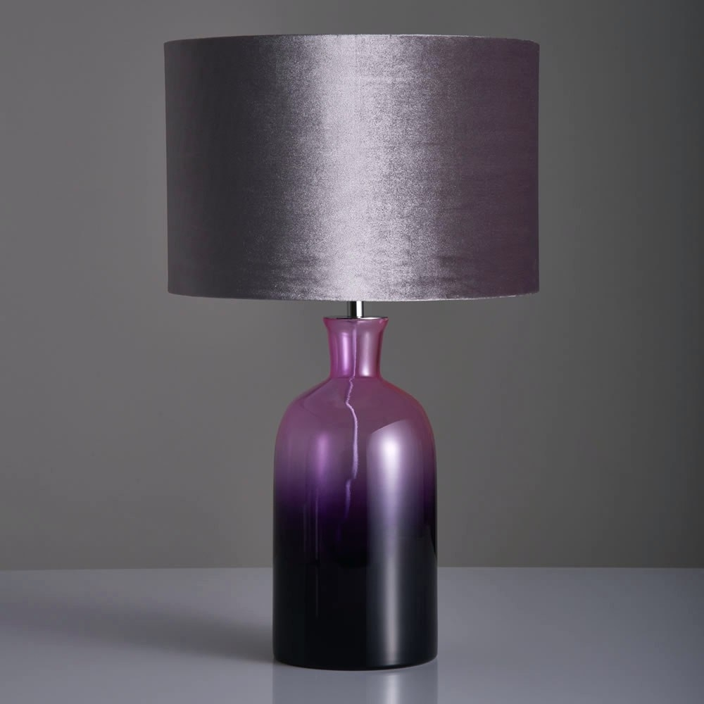 Lamp : Purple Lamp Shades Walmart Replacements For Table Lamps Within Purple Living Room Table Lamps (#6 of 15)