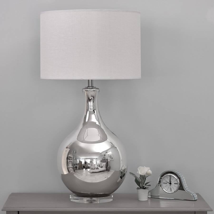 Lamp : Silver Table Lamps For Bedroom At Home With Way Bulb Living Throughout Silver Table Lamps For Living Room (#9 of 15)