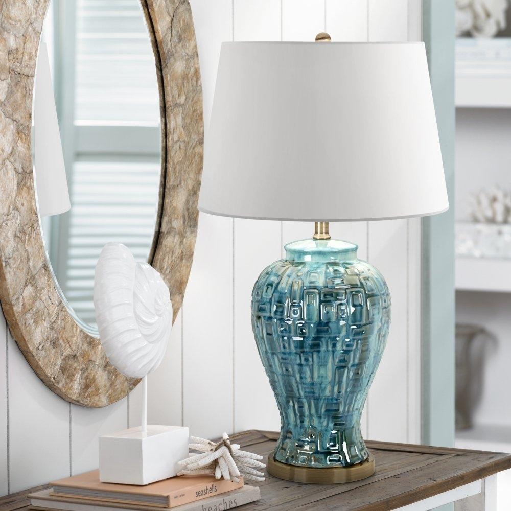 Lamp : White Ceramic Table Lamps For Living Room Made In Usa Ebay Inside Blue Living Room Table Lamps (#7 of 15)