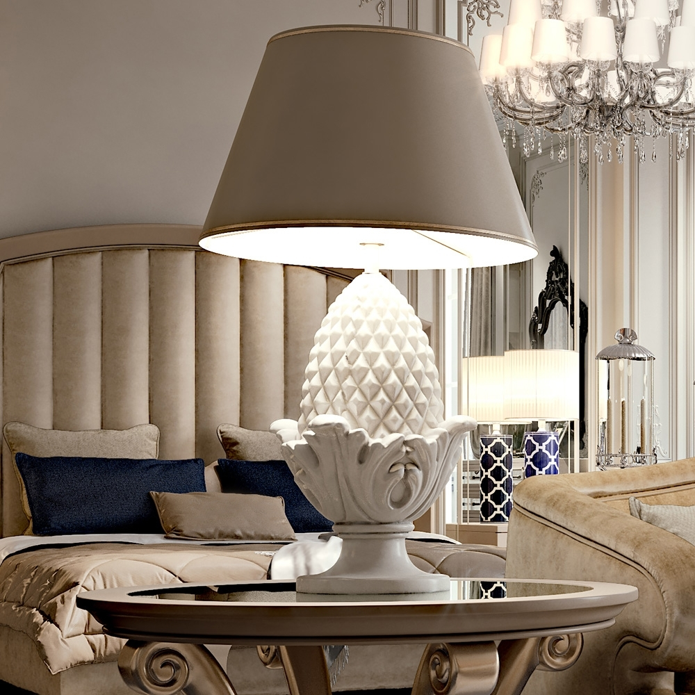 Inspiration about Large Pine Cone Ceramic Luxury Table Lamp Regarding Ceramic Living Room Table Lamps (#12 of 15)