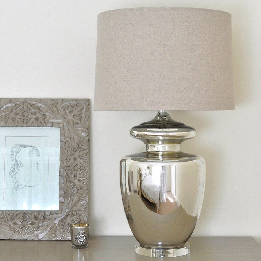 Inspiration about Large Silver Urn Table Lamp And Linen Shadeprimrose & Plum Intended For Large Table Lamps For Living Room (#3 of 15)