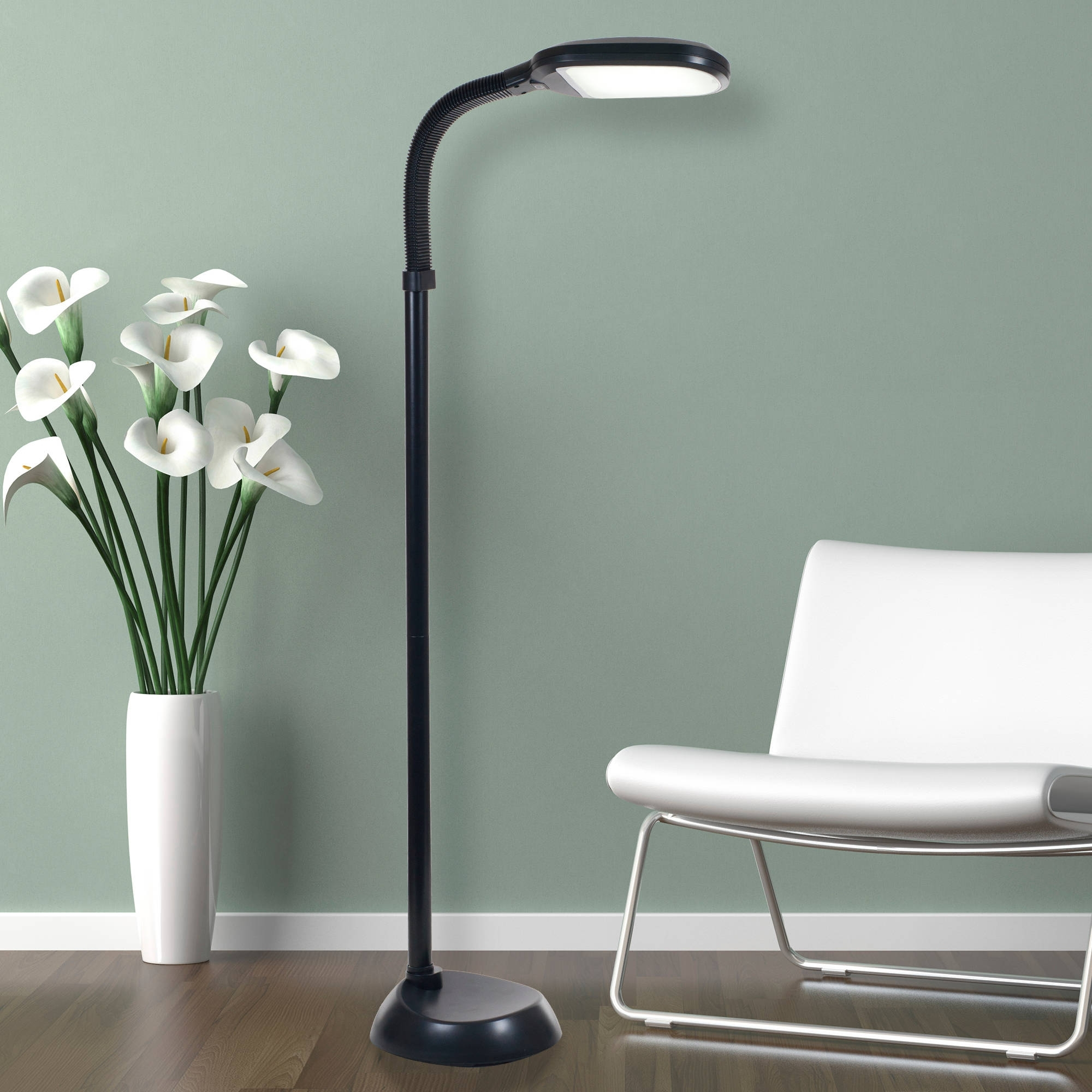 Lavish Home Led Sunlight Floor Lamp With Dimmer Switch Within Walmart Living Room Table Lamps (View 13 of 15)