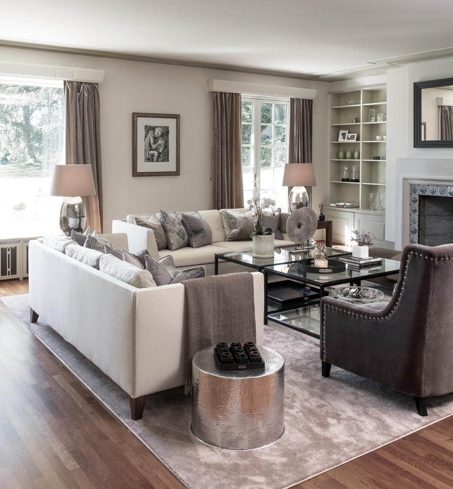 Inspiration about Living Room Furniture Living Room Transitional With Gray Rug Silver Pertaining To Transitional Living Room Table Lamps (#3 of 15)